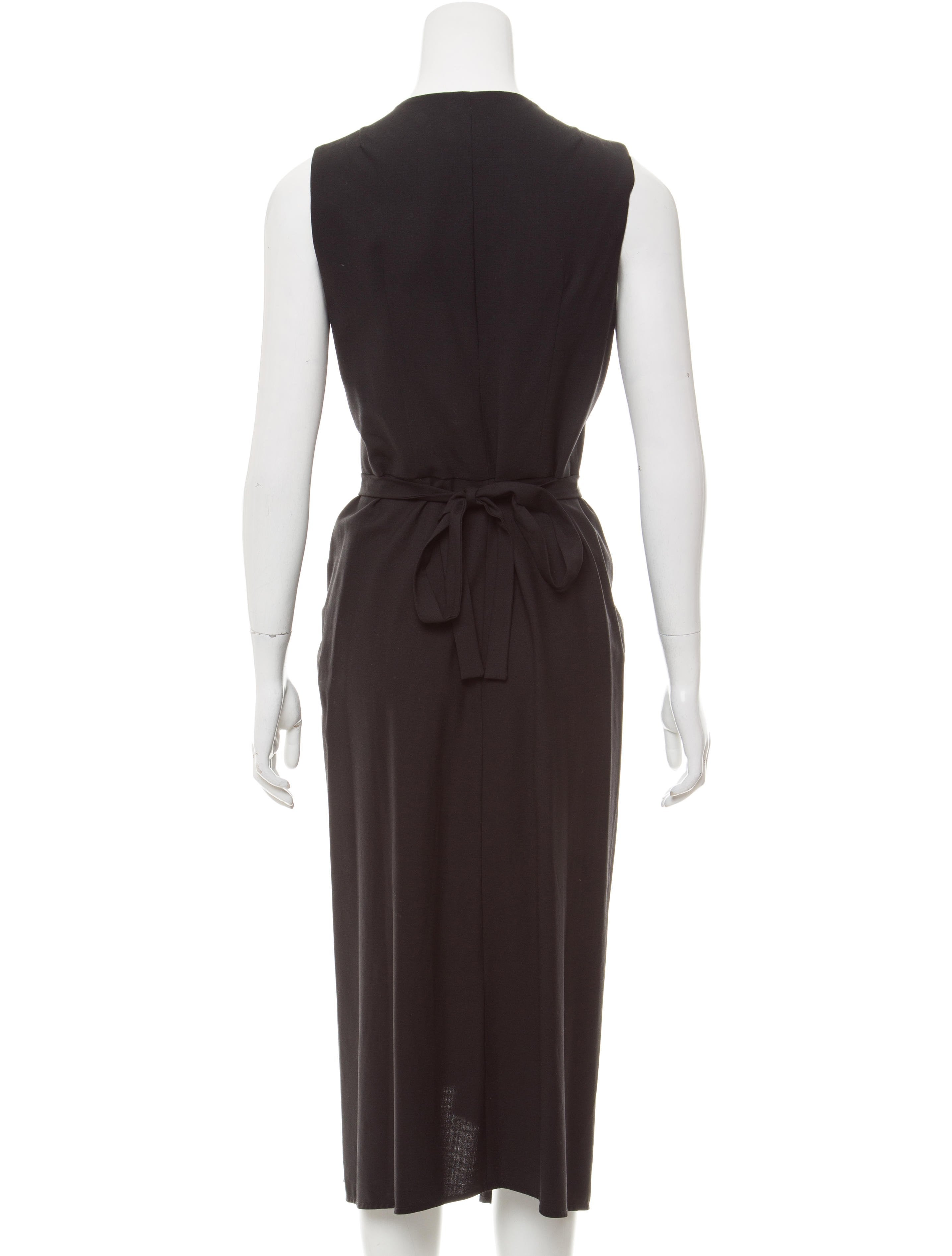 Morgane Le Fay Wool Midi Dress Clothing Mlf20226 The