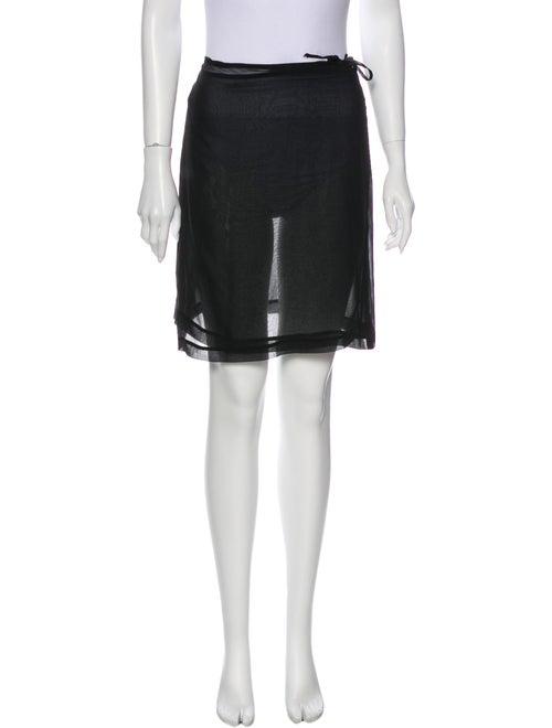 Morgane Le Fay Silk Mini Skirt Black