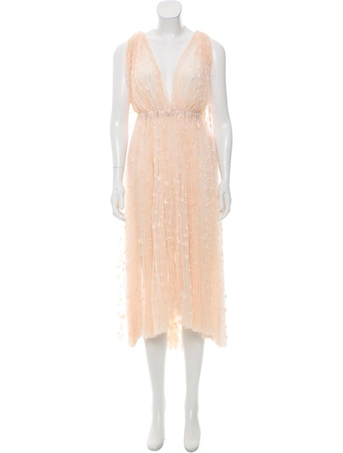 Maria Lucia Hohan Embroidered Tulle Dress w/ Tags