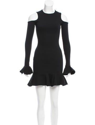 Michael Lo Sordo Ruffled Bodycon Dress None
