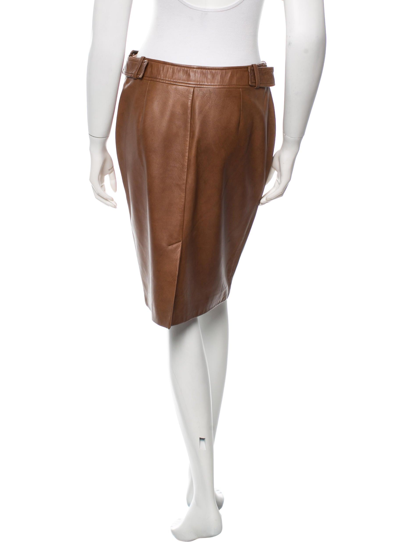 maxmara leather knee length skirt clothing mma20972