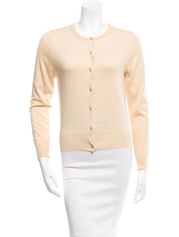 MaxMara Silk Button-Up Cardigan None
