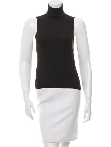MaxMara Sleeveless Turtleneck Top None