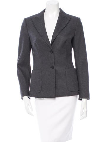 MaxMara Wool Notch-Lapel Bazer