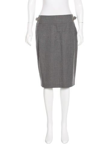 MaxMara Virgin Wool Pencil Skirt