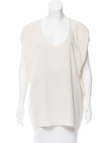 MaxMara Sleeveless Silk Top None