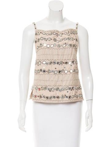 MaxMara Embellished Sleeveless Top w/ Tags None