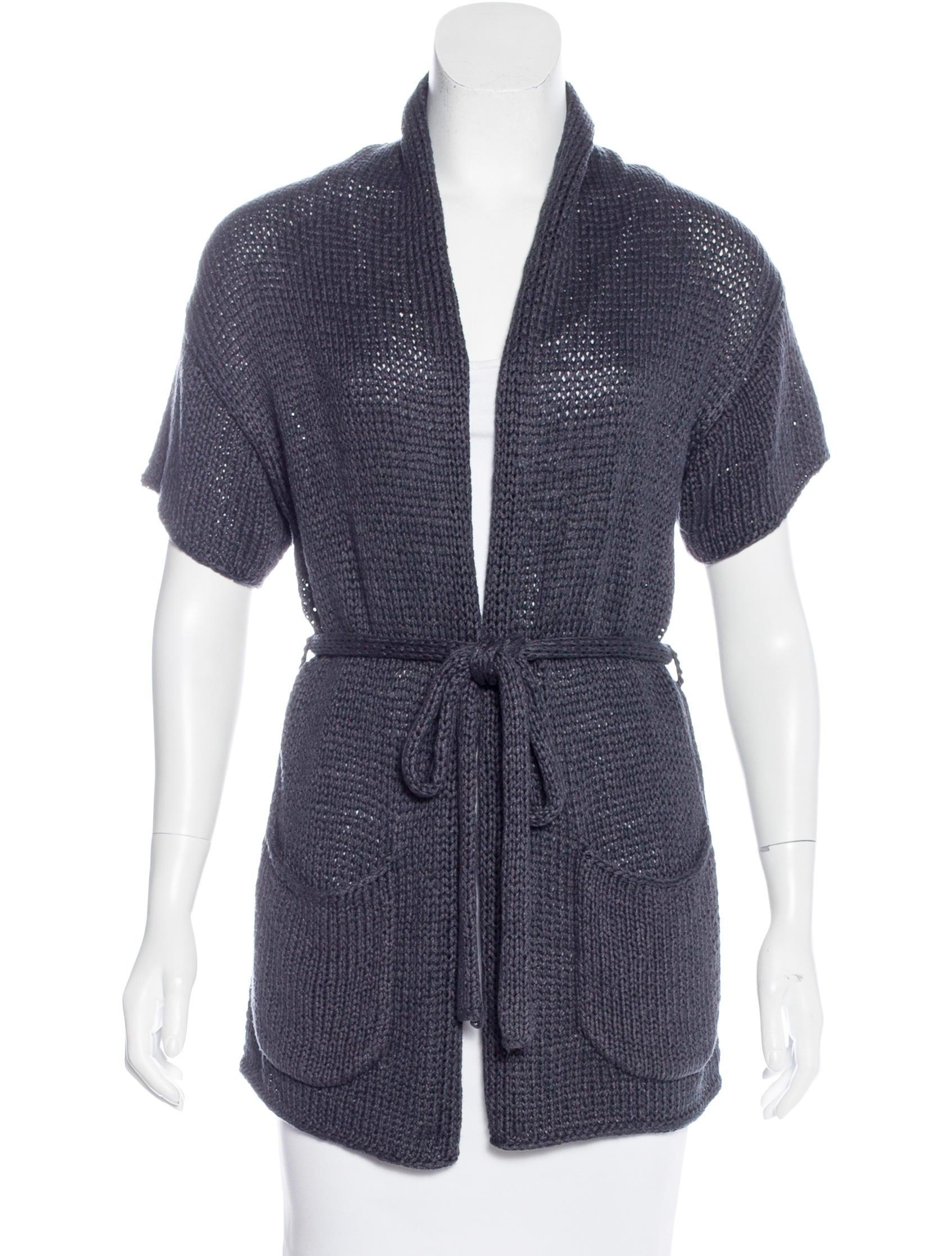 MaxMara Short Sleeve Belted Cardigan - Clothing - MMA22020 | The ...