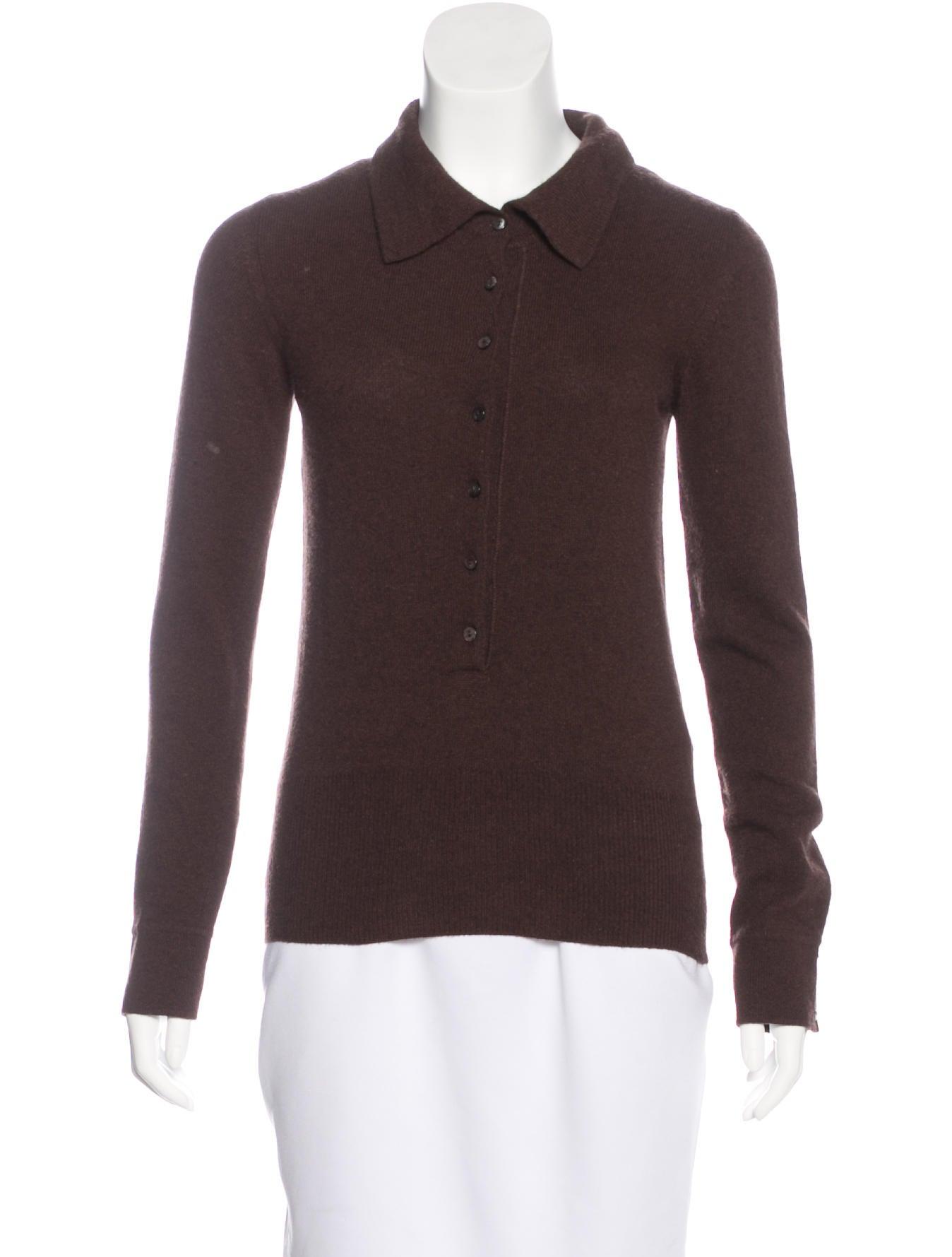 Maxmara wool long sleeve polo clothing mma22102 the for Long sleeve wool polo shirts