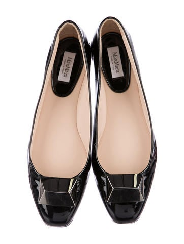 MaxMara Patent Leather Square-Toe Flats discount footlocker pictures cheap online store Manchester big discount cheap online discount good selling clearance visit new nV2Z8a