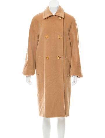 MaxMara Long Notch-Lapel Coat None