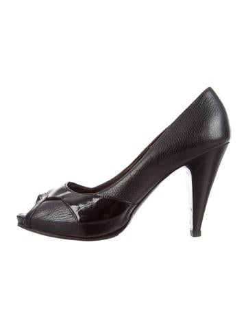 MaxMara Slingback Peep-Toe Pumps w/ Tags cheap sale with paypal outlet latest discount really cheap in China q0ORAtcT