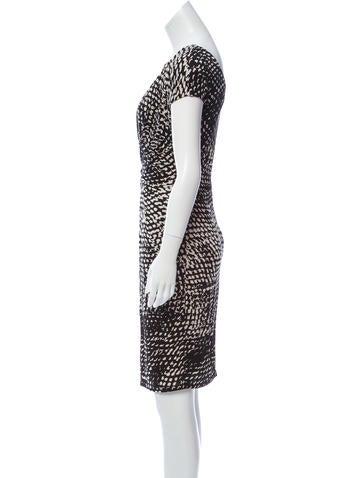 Printed Knee-Length Dress