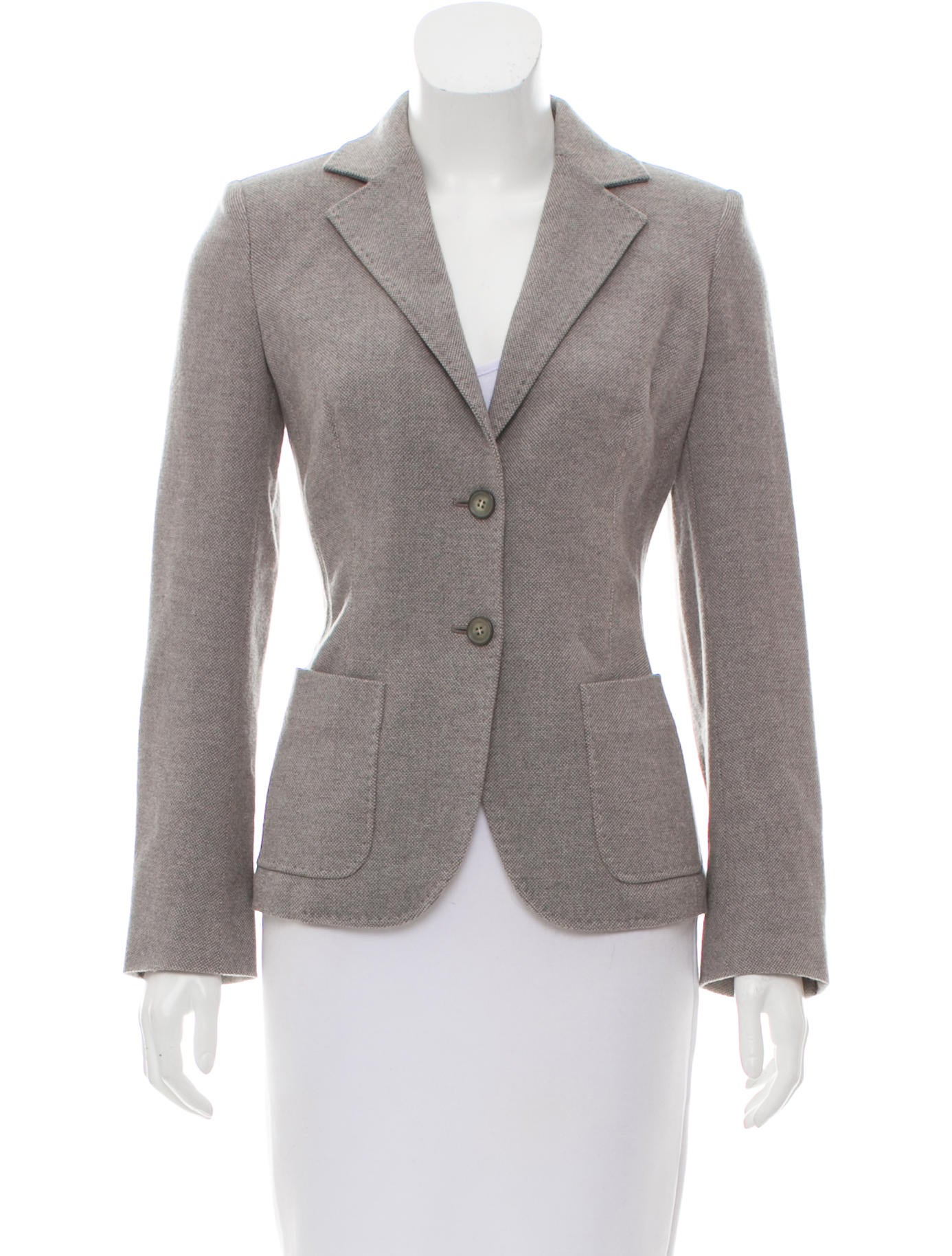 MaxMara Virgin Wool Notch-Lapel Blazer Clearance Visit New Exclusive High Quality Online Low Price Fee Shipping For Sale Sale Cost b5Gxy
