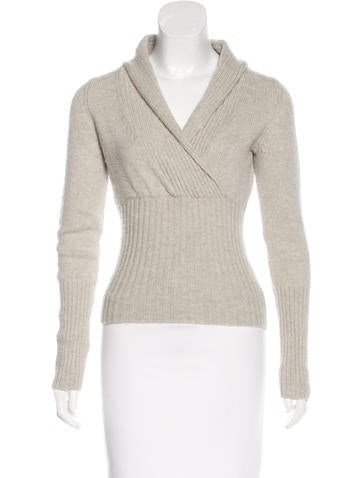 MaxMara Long Sleeve Wool-Blend Top None