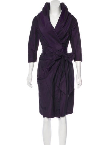 MaxMara Silk-Blend Wrap Dress None