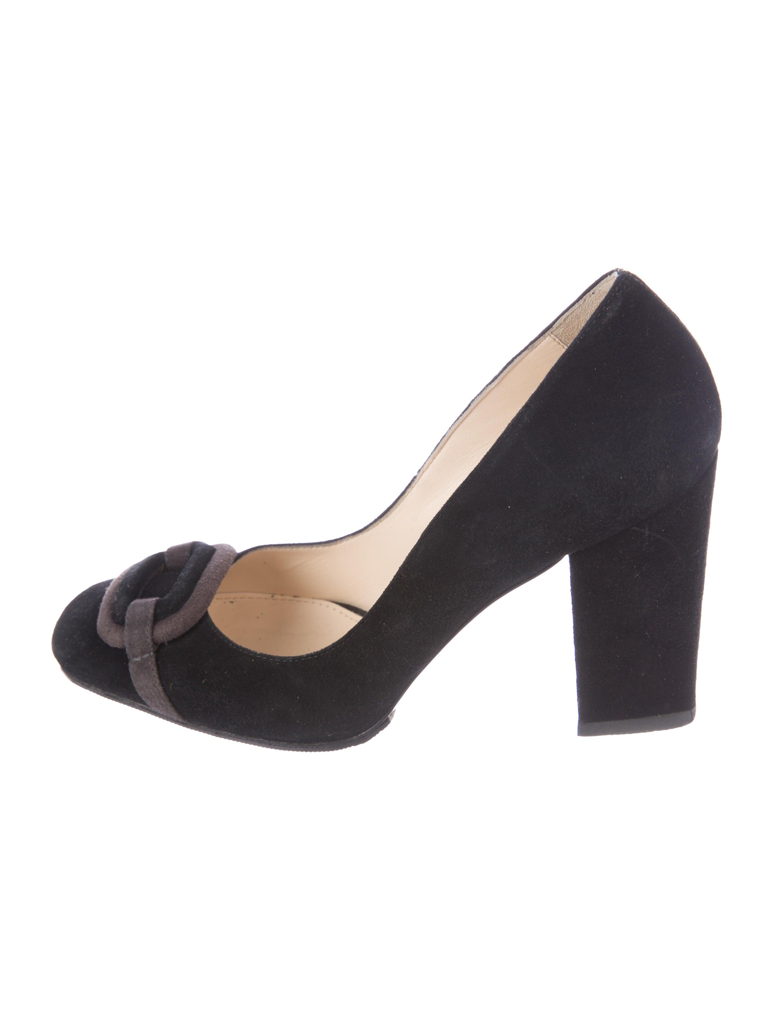 b16a5d144ae MaxMara Suede Square-Toe Pumps - Shoes - MMA26163