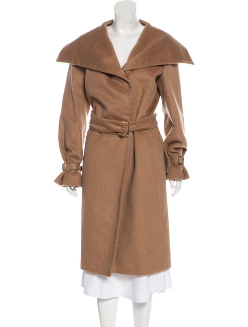 Max Mara Camel Hair Long Coat Brown
