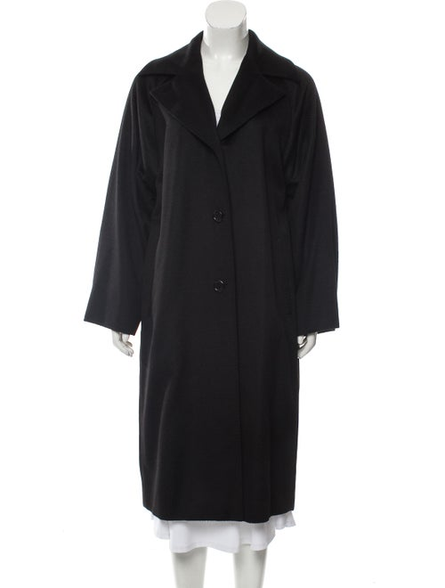 Max Mara Long Camel Hair Coat Black