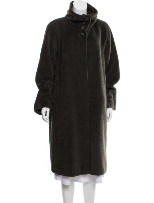 Max Mara Camel Long Coat Green