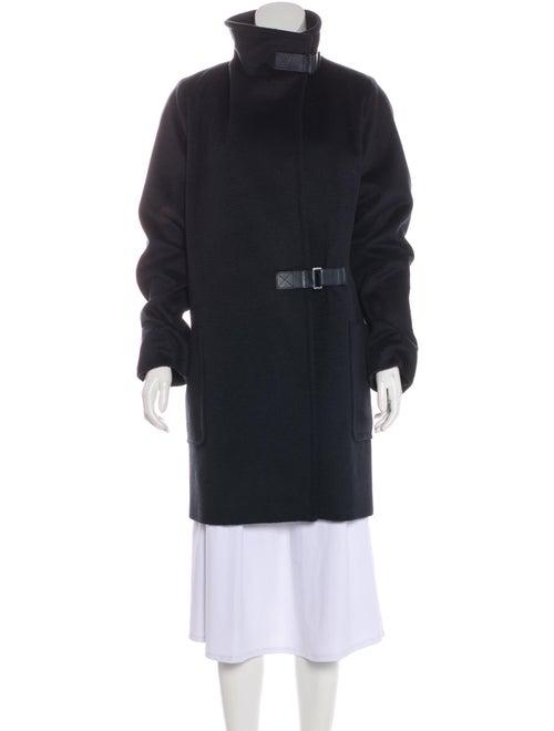 Max Mara Camel Long Coat Navy