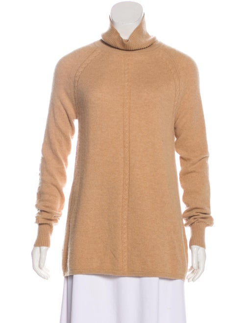 Max Mara Long Sleeve Turtleneck Sweater Beige