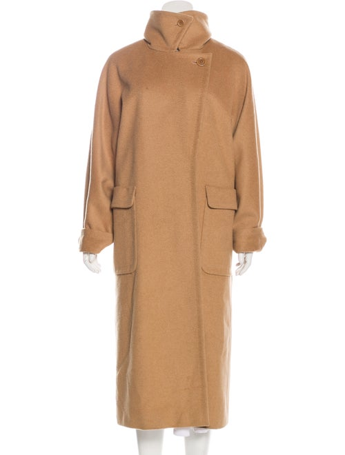 Max Mara Camel Open Front Coat Tan