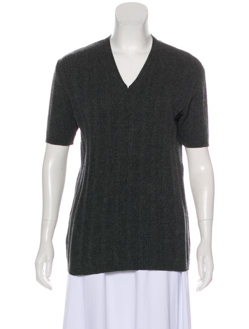 Max Mara Short Sleeve Cashmere Sweater