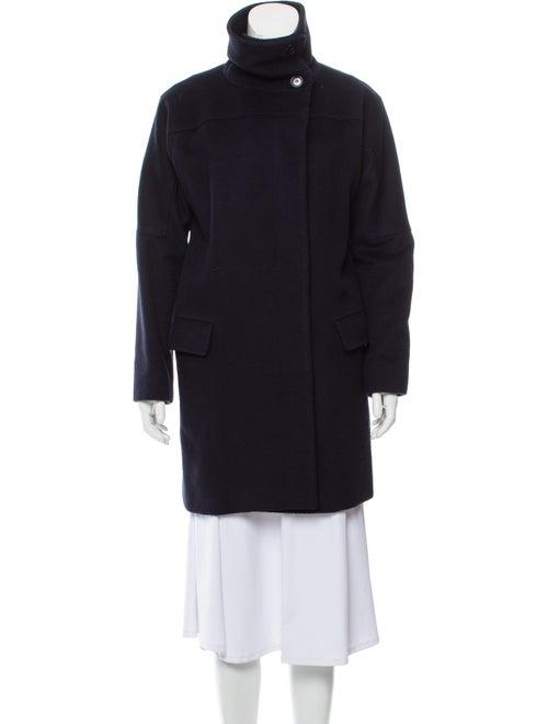 Max Mara Camel Hair Knee-Length Coat Black