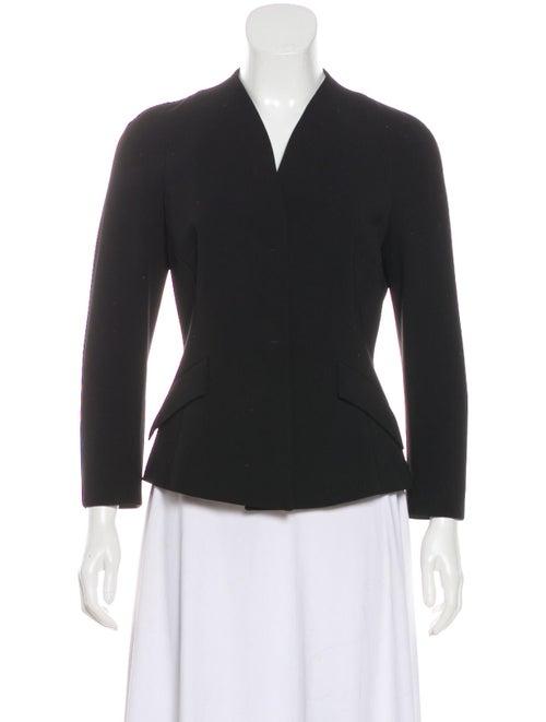 Max Mara Collarless Button-Up Blazer Black