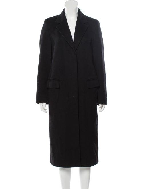 Max Mara Virgin Wool Long Coat Black