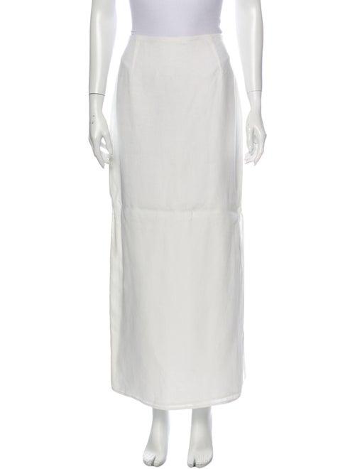 Max Mara Linen Long Skirt White