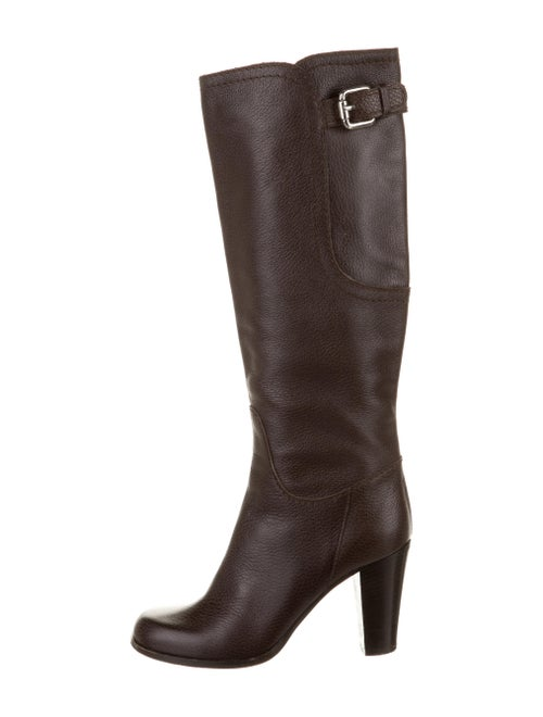 Max Mara Leather Boots Brown