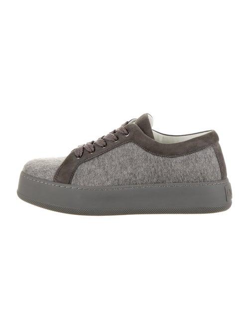 Max Mara Colorblock Pattern Sneakers Grey