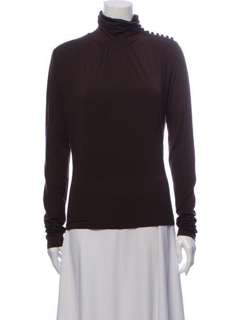 Max Mara Turtleneck Long Sleeve Sweatshirt Brown