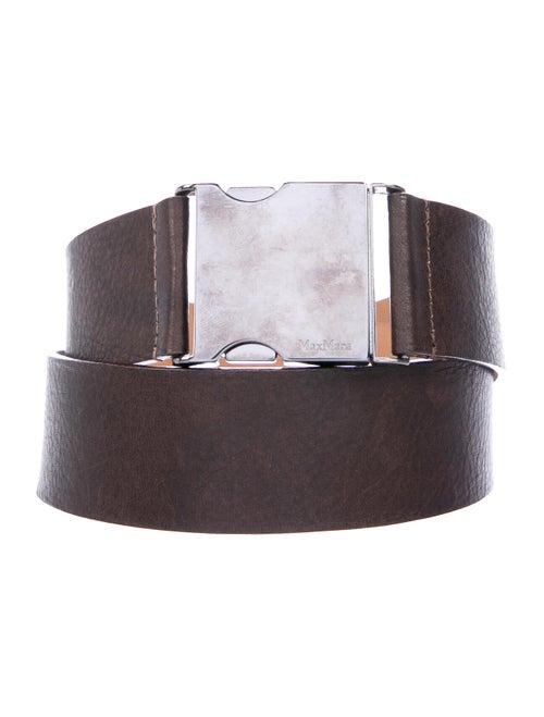Max Mara Leather Hip Belt Brown