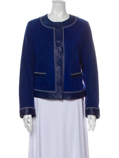 Max Mara Suede Jacket Blue