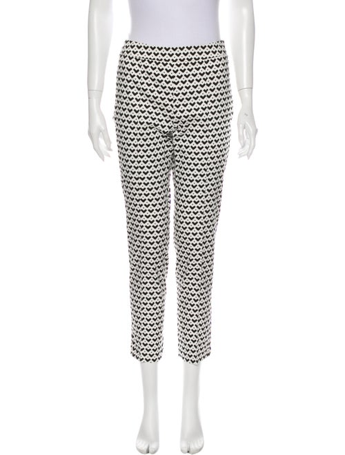 Max Mara Printed Straight Leg Pants Black