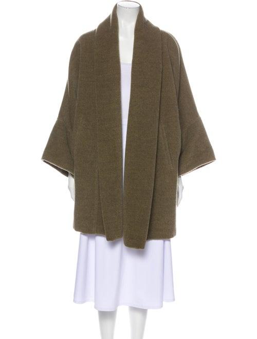 Max Mara Mohair Coat Green
