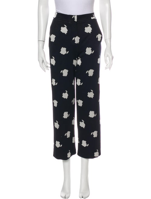Max Mara Printed Wide Leg Pants Blue