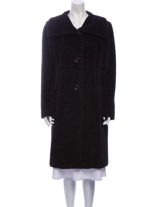 Max Mara Alpaca Faux Fur Coat Black