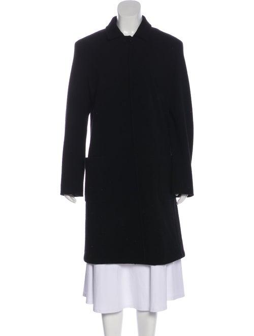 Max Mara Long Wool Coat Black