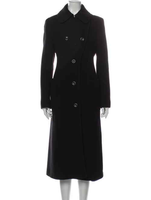 Max Mara Virgin Wool Trench Coat Wool