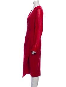 Max Mara Virgin Wool Midi Length Dress