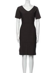 Max Mara V-Neck Knee-Length Dress