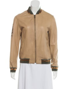 d655fc7325704 Mr & Mrs Italy. Metallic-Accented Leather Jacket