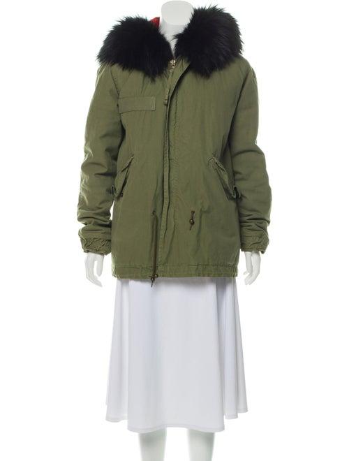 Mr & Mrs Italy Fur Trim Hooded Jacket Olive