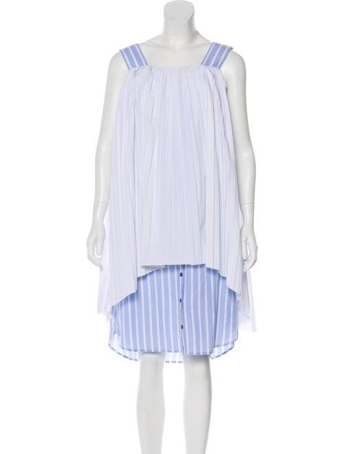 Monographie Sleeveless Pleated Dress White