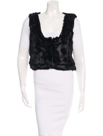 Manoush Embellished Fur Vest