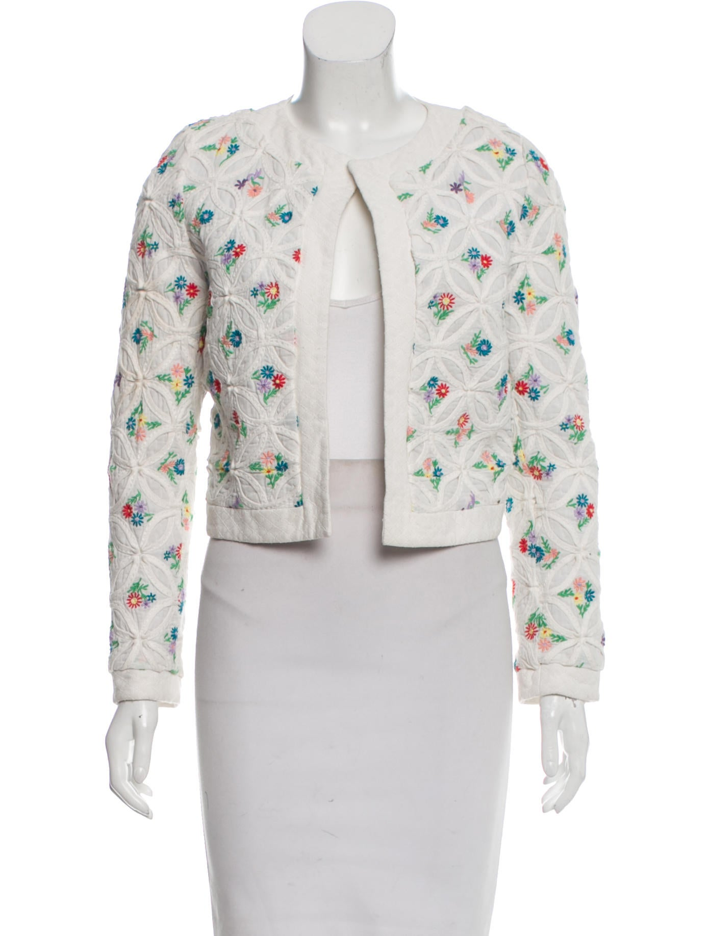 Manoush Embroidered Long Sleeve Jacket - Clothing - MNH20041 | The RealReal